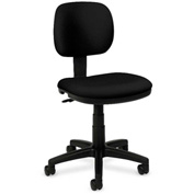 basyx® by HON® Armless Light Duty Task Chair Black Polyester