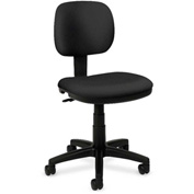 basyx® by HON® Armless Light Duty Task Chair Charcoal Polyester
