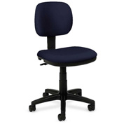 basyx® by HON® Armless Light Duty Task Chair Navy Polyester