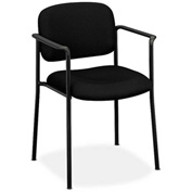 basyx® by HON® Stacking Guest Chair with Arms - Fabric - Black