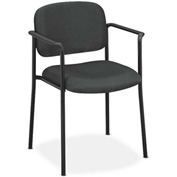 basyx® by HON® Stacking Guest Chair with Arms - Fabric - Charcoal