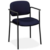basyx® by HON® Stacking Guest Chair with Arms - Fabric - Navy