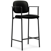 basyx® by HON® Bistro Stool - Fabric - Black - 2/Pk