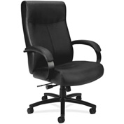 basyx® by HON® Big and Tall Executive Chair - Leather - High Back - Black