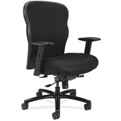 basyx® by HON® Big and Tall Executive Chair with Mesh Fabric - High Back - Black