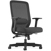basyx® by HON® Task Chair with Mesh Back - Fabric - High Back - Black