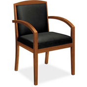 basyx® by HON® BSXVL853HSP11 Fixed Arm Guest Chair Black Leather