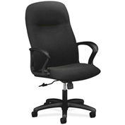 HON® Executive Chair with Arms - Olefin Fabric - High Back- Black - Gamut Series
