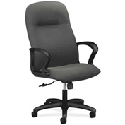 HON® HON2071AB12T Gamut Fixed Loop Arm High-Back Executive Chair Gray Olefin