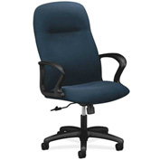HON® Executive Chair with Arms - Olefin Fabric - High Back- Blue - Gamut Series