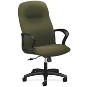 HON® Executive Chair with Arms - Olefin Fabric - High Back- Olivine - Gamut Series