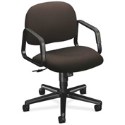 HON® HON4002CU49T Solutions 4000 Series Fixed Loop Arm Mid-Back Managerial Chair Espresso