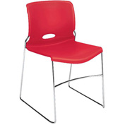 HON Armless Stacking Chair Plastic Cherry Olson Series