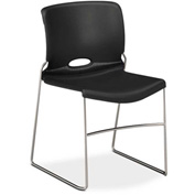 HON Armless Stacking Chair Plastic Onyx Olson Series
