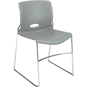 HON® Armless Stacking Chair - Plastic  - Platinum - Olson Series