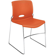 HON Armless Stacking Chair Plastic Tangelo Olson Series