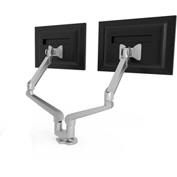 "HON® Dual Monitor Arm 21""W x 3-1/2""D x 19-1/2""H Gas Spring Arms"