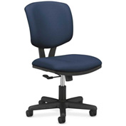 HON® Armless Task Chair - Fabric - Low Back - Navy - Volt Series
