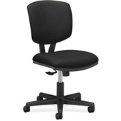 HON® Armless Task Chair with Synchro Tilt - Fabric - Low Back - Black - Volt Series
