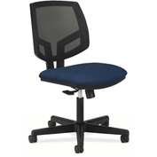 HON® Armless Task Chair with Mesh Back - Fabric - Low Back - Black - Volt Series