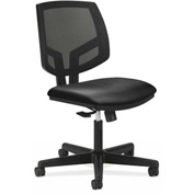 HON® Armless Task Chair with Mesh Back - Fabric - Low Back - Navy - Volt Series