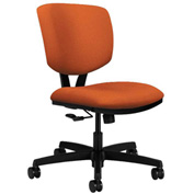 HON® Armless Task Chair - Fabric - Low Back - Tangerine - Volt Series