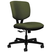 HON® Armless Task Chair - Fabric - Low Back - Olivine - Volt Series