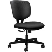 HON® Armless Task Chair - Fabric - Low Back - Onyx - Volt Series