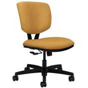 HON® Armless Task Chair - Fabric - Low Back - Mustard - Volt Series
