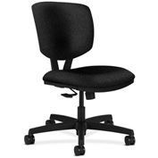 HON® Armless Task Chair with Synchro Tilt - Olefin Fabric - Low Back - Black - Volt Series