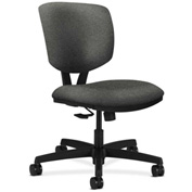 HON® Armless Task Chair with Synchro Tilt - Olefin Fabric - Low Back - Gray - Volt Series