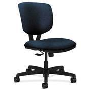 HON® Armless Task Chair with Synchro Tilt - Olefin Fabric - Low Back - Blue - Volt Series