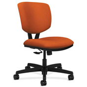HON® Armless Task Chair with Synchro Tilt - Fabric - Low Back - Tangerine - Volt Series