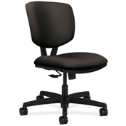 HON® Armless Task Chair with Synchro Tilt - Fabric - Low Back - Espresso  - Volt Series