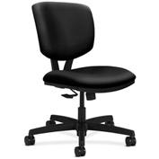 HON® Armless Task Chair with Synchro Tilt - Polyurethane - Low Back - Black - Volt Series