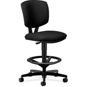 HON® Volt Armless Task Stool - Fabric - Black