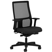 HON® Mesh Task Chair with Arms and Synchro Tilet - Fabric - Low Back - Black - Ignition Series