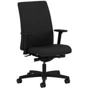 HON® HONIT103CU10 Ignition Adjustable Arm Low-Back Task Chair Black Polyester