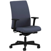 HON® HONIT103CU90 Ignition Adjustable Arm Low-Back Task Chair Cerulean Polyester