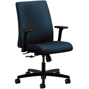 HON® HONIT105AB90 Ignition Adjustable Arm Low-Back Task Chair Blue Olefin