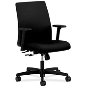 HON® HONIT105CU10 Ignition Adjustable Arm Low-Back Task Chair Black Polyester