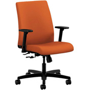 HON® Task Chair with Arms - Fabric - Low Back - Tangerine - Ignition Series