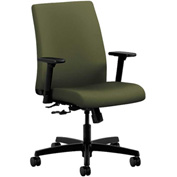 HON® HONIT105CU82 Ignition Adjustable Arm Low-Back Task Chair Olivine Polyester