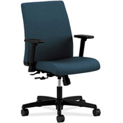 HON® HONIT105CU90 Ignition Adjustable Arm Low-Back Task Chair Cerulean Polyester