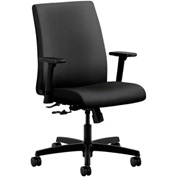 HON® HONIT105NR10 Ignition Adjustable Arm Low-Back Task Chair Onyx Polyester