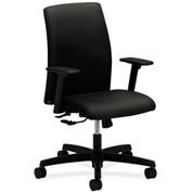 HON® HONIT105NT10 Ignition Adjustable Arm Low-Back Task Chair Black Polyester
