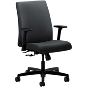 HON® Task Chair with Arms - Fabric - Low Back - Charcoal - Ignition Series