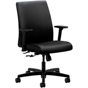 HON® Task Chair with Arms - Polyurethane - Low Back - Black - Ignition Series