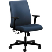 HON® Task Chair with Arms - Polyurethane - Low Back - Ocean - Ignition Series