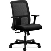 HON® HONIT106AB10 Ignition Adjustable Arm Low-Back Task Chair Black